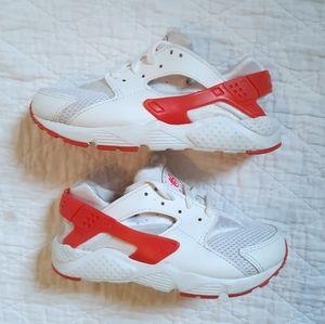 Kids Nike Huarache Sneakers White/Pink Size 12C